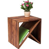 Příruční stolek z palisandrového dřeva Kare Design Zigzag