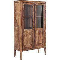 Ručně vyráběná dvoudveřová vitrína ze dřeva sheesham Kare Desgin Brooklyn Nature