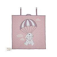 Růžová bavlněná dětská deka Bloomingville Baby