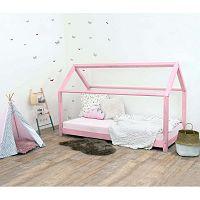 Růžová dětská postel bez bočnic ze smrkového dřeva Benlemi Tery, 70 x 160 cm