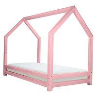 Růžová dětská postel z lakovaného smrkového dřeva Benlemi Funny, 80 x 160 cm