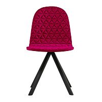 Růžová židle s černými nohami Iker Mannequin Triangle