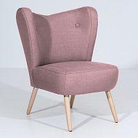 Růžové křeslo Max Winzer Sari
