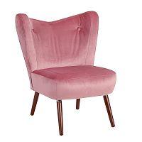 Růžové křeslo Max Winzer Sari Velvet