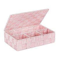 Růžový koupelnový organizér s víkem Wenko Adria