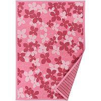 Růžový vzorovaný oboustranný koberec Narma Nurme, 140x200cm