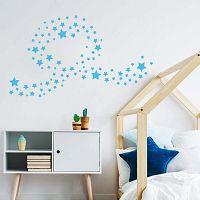 Sada 100 modrých nástěnných dětských samolepek Ambiance Stars
