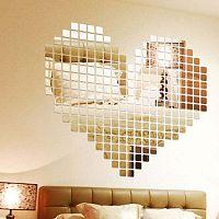 Sada 100 zrcadlových samolepek Ambiance Mosaic