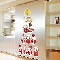 Sada 11 vánočních samolepek Fanastick Snowmen