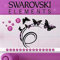 Sada 15 adhezivních Swarovski krystalů Fanastick Fuchsia