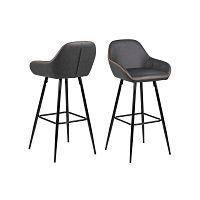 Sada 2 béžovošedých barových židlí Actona Candis