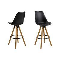 Sada 2 černých barových židlí Actona Dima