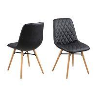 Sada 2 černých jídelních židlí Actona Lif