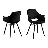 Sada 2 černých jídelních židlí Actona Ramona Dining Set Total Black