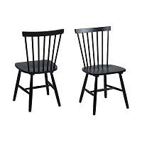 Sada 2 černých jídelních židlí Actona Riano Dining Set