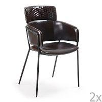 Sada 2 černých jídelních židlí La Forma Rhett