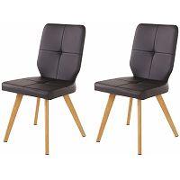 Sada 2 černých jídelních židlí Støraa Daniel