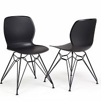 Sada 2 černých židlí Garageeight Rietia