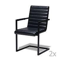 Sada 2 černých židlí Knuds Fanny