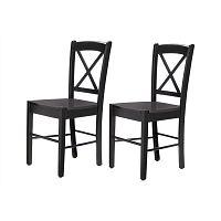 Sada 2 černých židlí Støraa Trento Cross