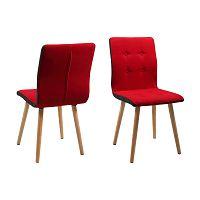Sada 2 červených jídelních židlí Actona Frida