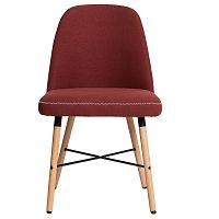 Sada 2 červených jídelních židlí Marckeric Cancun