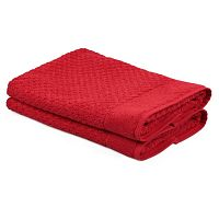 Sada 2 červených ručníků Beverly Hills Polo Club Mosley, 50x80cm