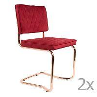 Sada 2 červených  židlí Zuiver Diamond Kink