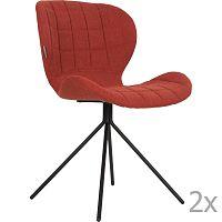 Sada 2 červených židlí Zuiver OMG