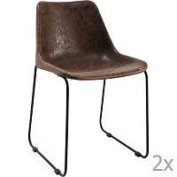 Sada 2 hnědých jídelních židlí Kare Design Mocha