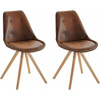 Sada 2 hnědých jídelních židlí Støraa Brenda