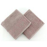 Sada 2 hnědých ručníků Burumcuk, 50 x 90 cm