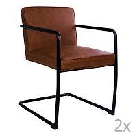 Sada 2 hnědých židlí HouseNordic Valbo