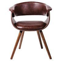 Sada 2 hnědých židlí s nohami z bukového dřeva Kare Design