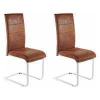 Sada 2 hnědých židlí Støraa Kosuma