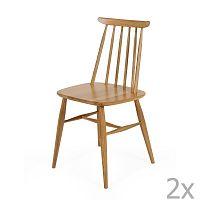 Sada 2 jídelních židlí z masivní břízy Woodman Aino