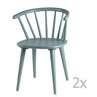 Sada 2 mentolových jídelních židlí sømcasa Anya