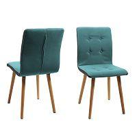 Sada 2 modrých jídelních židlí Actona Frida
