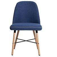 Sada 2 modrých jídelních židlí Marckeric Cancun