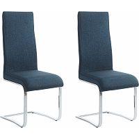 Sada 2 modrých jídelních židlí Støraa Teresa