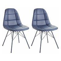Sada 2 modrých židlí Støraa Sting