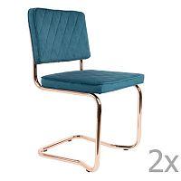 Sada 2 modrých židlí Zuiver Diamond Kink