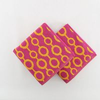 Sada 2 osušek Crazy Vibes Orange, 50 x 100 cm