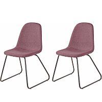 Sada 2 růžových jídelních židlí Støraa Colombo