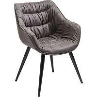 Sada 2 šedohnědých jídelních židlí Kare Design Thelma
