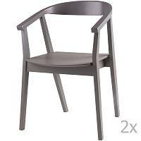 Sada 2 šedých jídelních židlí sømcasa Donna