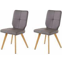 Sada 2 šedých jídelních židlí Støraa Daniel
