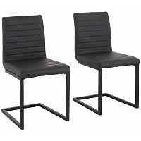 Sada 2 šedých  jídelních židlí Støraa Sandra