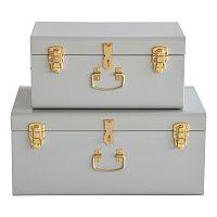 Sada 2 šedých kovových kufříků RGE Stella Matteus