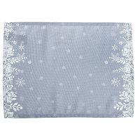 Sada 2 šedých prostírání Apolena Honey Snowflakes, 33 x 45 cm